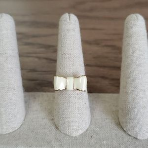 Kate Spade Gold & White Bow Ring